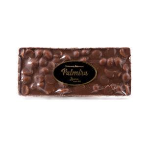Barra de Turrón de Jijona Artesano Palmira de Chocolate con Avellanas