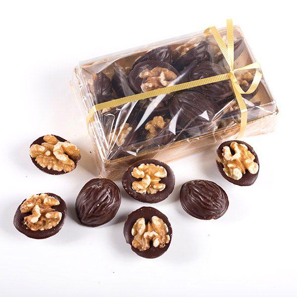 Muestra del Contenido de una Caja de Nueces de Chocolate Marca Palmira