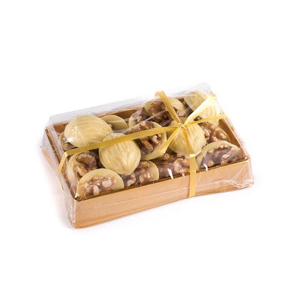 Caja de Nueces de Chocolate Blanco de Marca Palmira
