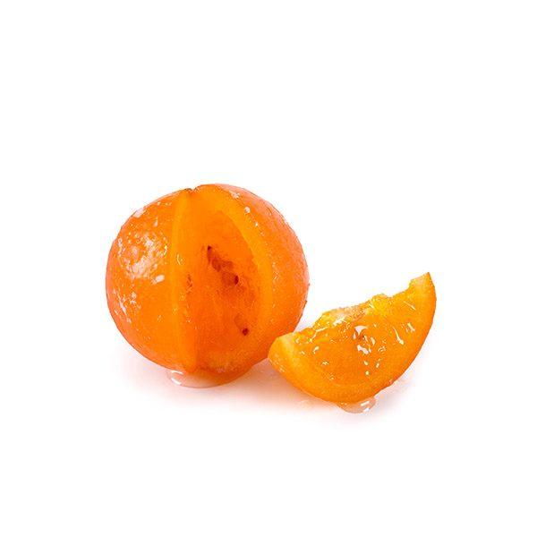 Naranja Escarchada Marca Palmira con Muestra de Gajo Cortado