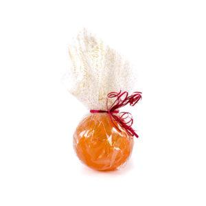 Naranja Escarchada Marca Palmira Envuelta con Lazo Decorativo