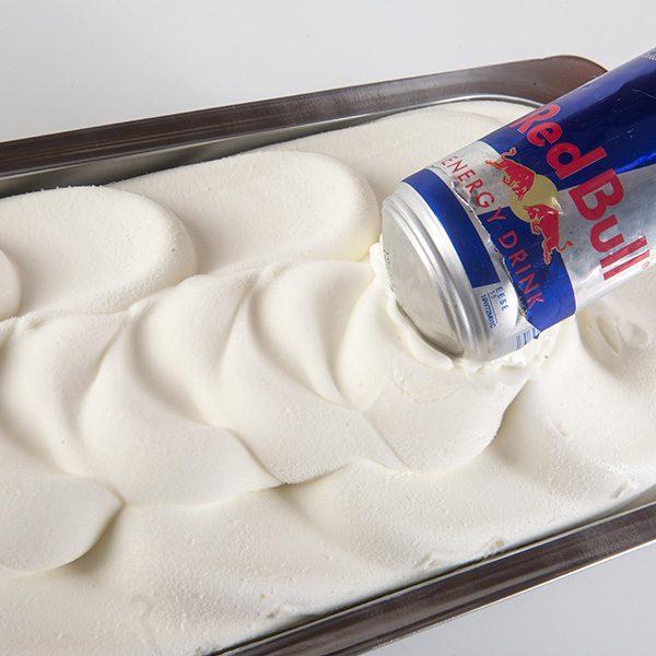 Muestra de Helados Llinares Sabor Red Bull